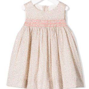 BONPOINT CLOTHI DRESS PINK LIBERTY PRINT SS19 2T